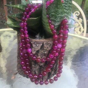 Anthropologie NWT Semiprecious 3 Stone Necklace